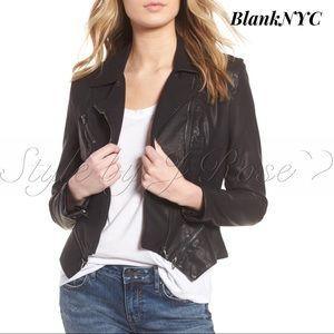 NWOT's BlankNYC Black Faux Leather Moto Jacket